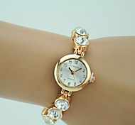 Women's Fashion Watch Quartz Rhinestone Alloy Band Charm Gold Brand
