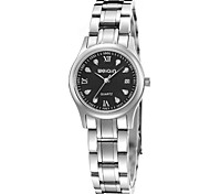 Women's Men's Fashion Watch Quartz Water Resistant / Water Proof Stainless Steel Band Silver