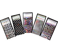 5pcs Holographic Foil Nail Art Transfer Sticker DIY Laser Feather Flower Image Nail Care Manicures Tool Gift