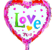 Helium balloon wholesale aluminum foil balloon lover wedding decoration -----CY aluminum film heart-shaped LOVE YOU