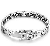 Herrn Damen Ketten- & Glieder-Armbänder Leder Stahl Schmuck Silber Schmuck Für Normal 1 Stück