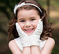Pearl Bow Flower Gloves