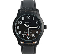 Men's Fashion Watch Quartz / PU Band Casual Black Brand
