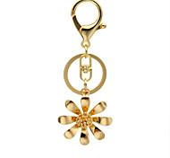 Fashion Pendant Keychain Rhinestone Flower Leaf Keychain