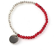 Bracelet Strand Bracelet Agate Star Friendship Daily Casual Jewelry Gift Silver Red,1pc