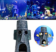 Aquarium Decoration Easter Island Home Ornament