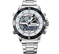 Masculino Relógio Esportivo Relógio Militar Relógio de Moda Relógio de Pulso Relogio digital Digital Couro Legitimo Banda Vintage Casual