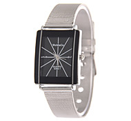 Men's Women's Wrist watch Quartz Alloy Band Silver