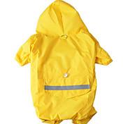 Собака Дождевик Одежда для собак Водонепроницаемый Спорт Сплошной цвет Желтый Красный Синий Камуфляж цвета