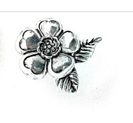 White alloy brooch