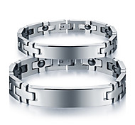Couple's Chain Bracelet Steel Simple Style Fashion Jewelry Silver Jewelry 1pc