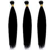 1PC TRES JOLIE Remy Yaki 10-20Inch Color 1B Black Human Hair Weaves