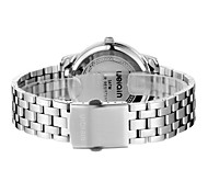 Men's Fashion Watch Quartz Japanese Quartz Water Resistant / Water Proof Stainless Steel Band Silver Brand