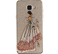 For Samsung Galaxy A5 A5(2016) A3 A3(2016) Case Cover Fashion Girl Pattern IMD Process Painted TPU Material Phone Case