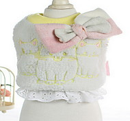 Dog Coat Dog Clothes Winter Solid Cute White Gray Pink