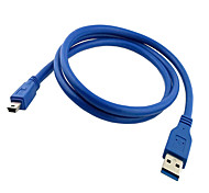 USB 3.0 A Male AM to Mini USB 3.0 Mini 10pin Male USB3.0 Cable  1m