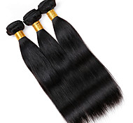 Vinsteen 8A 100% Unprocessed Real Remy Human Hair Extensions Straight Hair Wefts 3 Bundles Natural Color Thick Ends Shiny Hair Weaves