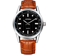 SINOBI Brand Unisex Fashion Watch Classic Simply Genuine Leather Strap Watches
