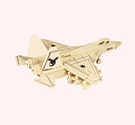 Jigsaw Puzzles Wooden Puzzles Building Blocks DIY Toys Annihilates - J31 Fighter 1 Wood Ivory Model & Building Toy