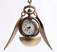Unisex Dress Watch Necklace Watch Quartz Alloy Band Vintage Gold