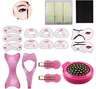 1 Set Eyebrow Comb Card Set Look Line Double-Fold Eyelid Post Nine Beauty Makeup Tools Suit Auxiliary Makeup Suits