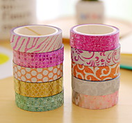 Pattern Glitter Powder Tape Set(10 PCS/Set)