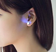 Unique Design LED Earrings Light Light Up Bling Ear Studs Dance Party Accessories for Dance Party Bar Girl