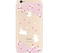 For Apple iPhone 7 7 Plus  6s 6 Plus  SE 5S Case Cover Cherry Rabbit Pattern TPU Material Painted High Penetration Simple Phone Case