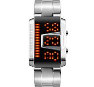Masculino Relógio de Moda Relógio de Pulso Relogio digital Digital LED Calendário Impermeável Lega Banda Legal Preta Prata Preto Prata