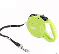 Dog Hands Free Leash Adjustable/Retractable Solid Green Plastic