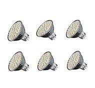 5.5W GU5.3 LED Spot Lampen MR16 60 SMD 3528 240 lm Warmes Weiß Kühles Weiß V 6 Stück