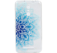 For Hongmi Note 3  3S phone Case Blue Flower Lace Embossed Pattern TPU Material High Penetration
