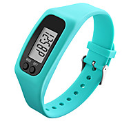 Men's Women's Sport Watch Wrist watch Digital Watch LCD Pedometer Colorful Digital Rubber Band Cool Black White Blue Green Yellow Rose