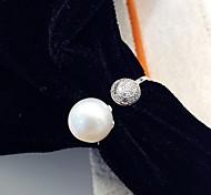 Ring Perle Modisch Weiß Schmuck Alltag Normal 1 Stück