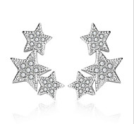 Silver Star S925 Zircon Earrings