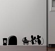 Мультипликация Романтика фантазия Наклейки Простые наклейки Декоративные наклейки на стены,Винил материал Съемная Украшение домаНаклейка