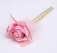 New Ribbon Pure Handmade Flower Wedding Party Signature Pen Marker Pen(Refill Gold)