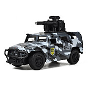 Military Vehicle Pull Back Vehicles Car Toys 1:10 Metal Black