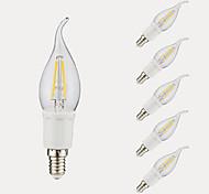 3W E12 Lampadine LED a incandescenza B 4 COB 380/300 lm Bianco caldo Luce fredda AC 110-130 V 6 pezzi