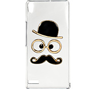 For Huawei Case Transparent Case Back Cover Case 3D Cartoon Hard PC Huawei P6