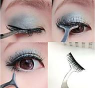 1pc nuevas pestañas postizas extensión rizador de pestañas herramienta del aplicador del rimel pinzas de acero removedor de maquillaje