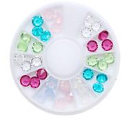 1pcs Nail Art Resin Diamond Gemstone Bottom Drill 4 * 6mm 6 Color Mix 36 Pack Rhinestone Pearls Makeup Cosmetic Nail Art Design