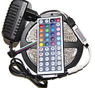 5M 3528 300 SMD IP44 RGB AC 100-240V With 44 key Remote Control 12V 3A Power Strip Light Set
