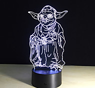 3D Bulbing Light 7 Color Changing Star Wars Toys Millennium Falcon Darth Vader Bb8 Droid Robot Master Yoda Led Lamp Lighting