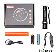 U'King ZQ-X935B 3 Modes Zoomable LED Torch Flashlight Warning Flare for Outdoor Bicycle Camping Hiking