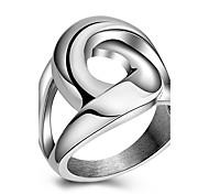 Кольца Для вечеринок Повседневные Спорт Бижутерия Титановая сталь Женский Массивные кольца Кольцо 1шт,6 7 8 9 Какна фотографии
