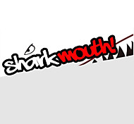 Red Grey Shark Mouth Garland  Car Styling Reflective Vinyl Sticker Auto Cool Refitting Exterior Decal for Side Door