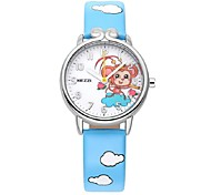 KEZZI Kids' Fashion Watch Quartz Japanese Quartz PU Band Casual White Blue Red Pink Purple