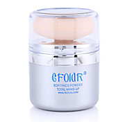 1Pcs Hot Skin Finish Loose Powder Makeup Highlighter Loose Powder With Puff Soft And Gentle Powder For Face Finish Powder