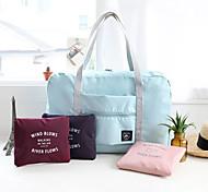 1 PC Travel Bag Handbag Waterproof Foldable Multi-function for Travel Storage Polyester-Blushing Pink Dark Red Light Blue Dark Navy